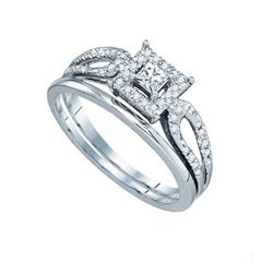 10KT White Gold 0.26CTW DIAMOND BRIDAL SET