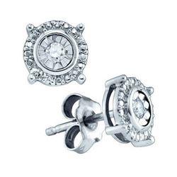 925 Sterling Silver White 0.05CTW DIAMOND LADIES FASHIO