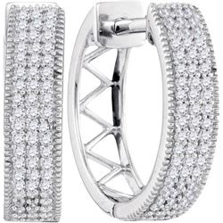10KT White Gold 0.33CTW DIAMOND MICRO-PAVE EARRINGS