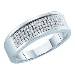 10KT White Gold 0.25CTW DIAMOND MICRO PAVE BAND