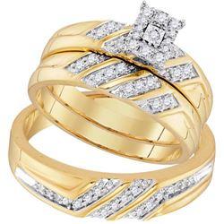 10K Yellow-gold 0.40CTW DIAMOND FASHION TRIO-SET