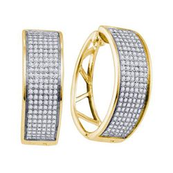 925 Sterling Silver Yellow 0.91CTW DIAMOND MICRO PAVE E