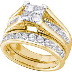 10K Yellow-gold 0.47CT DIAMOND INVISIBLE BRIDAL SET