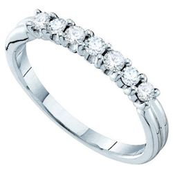 14KT White Gold 0.33CTW DIAMOND LADIES FASHION BAND