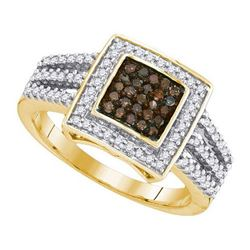 10K Yellow-gold 0.50CTW COGANC DIAMOND MICRO-PAVE RING