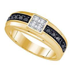 10KT Yellow Gold 0.49CT DIAMOND MENS BAND