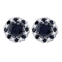 10K Yellow-gold 1.00CTW DIAMOND FASHION EARRINGS