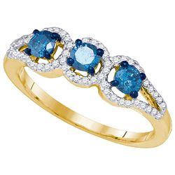 10K Yellow-gold 0.65CT DIAMOND FASHION RING