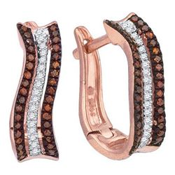 10KT White Gold 0.25CTW DIAMOND MICRO-PAVE HOOPS