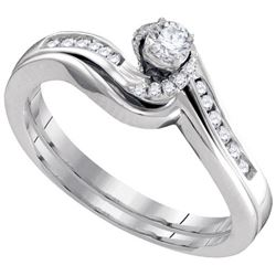 10KT White Gold 0.28CTW DIAMOND FASHION RING