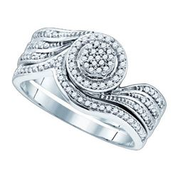 10KT White Gold 0.33CTW DIAMOND MICRO PAVE RING