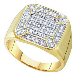 10K Yellow-gold 0.33CTW DIAMOND MICRO PAVE MENS RING
