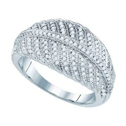 10KT White Gold 0.40CT DIAMOND MICRO-PAVE RING