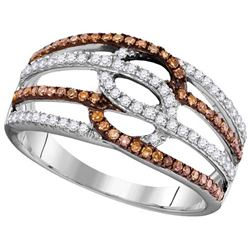 10KT White Gold 0.45CTW COGNAC DIAMOND FASHION RING