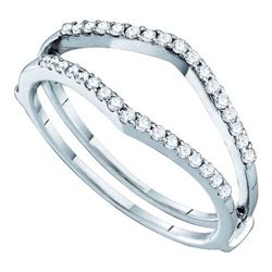 14KT White Gold 0.25CTW DIAMOND FASHION BAND