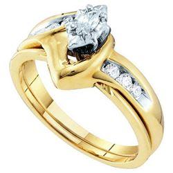 10KT Yellow Gold 0.24CTW DIAMOND LADIES BRIDAL RING