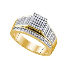 10K Yellow-gold 0.25CT DIAMOND BRIDAL RING