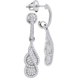 10KT White Gold 0.40CTW DIAMOND MICRO-PAVE EARRINGS