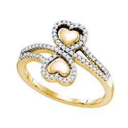 10K Yellow-gold 0.25CT DIAMOND HEART RING