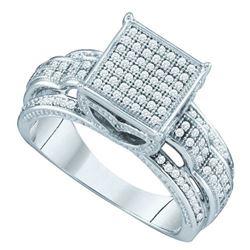 10KT White Gold 0.40CTW DIAMOND LADIES MICRO PAVE RING