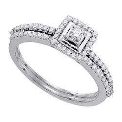 10KT White Gold 0.35CTW DIAMOND BRIDAL SET