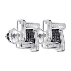 925 Sterling Silver White 0.03CTW DIAMOND MICRO-PAVE EA