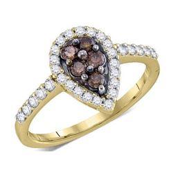 10K Yellow-gold 0.51CT COGNAC DIAMONDFASHION RING