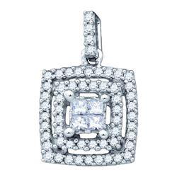 14KT White Gold 0.31CTW DIAMOND FASHION PENDANT