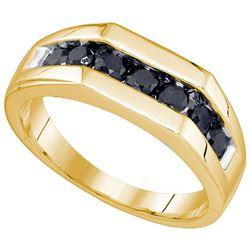 10K Yellow-gold 1.01CT DIAMOND MENS BAND