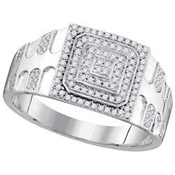 10KT White Gold 0.33CTW DIAMOND MICRO-PAVE RING