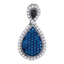 10KT White Gold 0.53CTW DIAMOND FASHION PENDANT