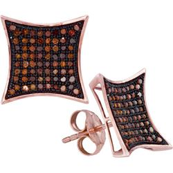 10KT Rose Gold 0.40CTW DIAMOND MICRO-PAVE EARRING