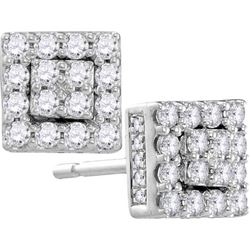 10KT White Gold 0.50CTW DIAMOND FASHION EARRING