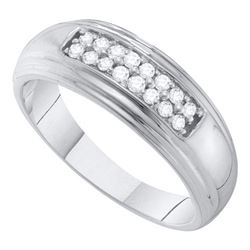 10KT White Gold 0.25CT DIAMOND FASHION BAND