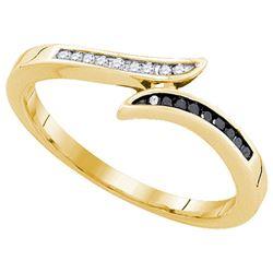 10K Yellow-gold 0.11CTW DIAMOND FASHION RING