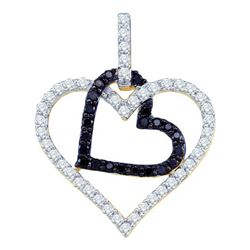 10KT Yellow Gold 0.51CTW DIAMOND HEART PENDANT