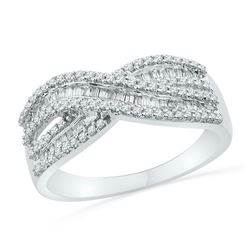10KT White Gold 0.50CTW DIAMOND FASHION BAND