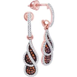 10KT Rose Gold 0.40CTW DIAMOND MIRCO-PAVE EARRINGS
