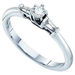 14KT White Gold 0.19CTW DIAMOND BRIDAL RING