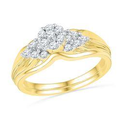 10K Yellow-gold 0.33CTW DIAMOND FASHION BRIDAL SET