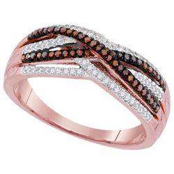 10KT Rose Gold 0.25CTW DIAMOND MICRO-PAVE RING