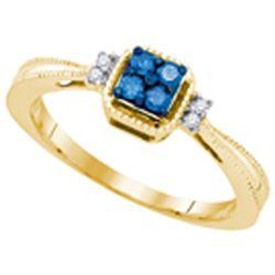 10K Yellow-gold 0.15CTW DIAMOND FASHION RING