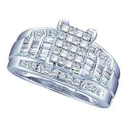 10KT White Gold 0.50CT DIAMOND INVISIBLE RING