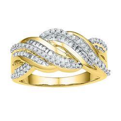 10K Yellow-gold 0.50CTW DIAMOND FASHION RING