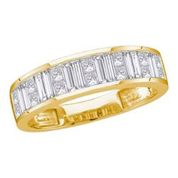14KT Yellow Gold 0.25CTW DIAMOND INVISIBLE BAND