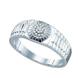925 Sterling Silver White 0.05CT DIAMOND MICRO PAVE BAN