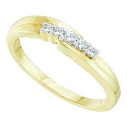10KT Yellow Gold 0.10CTW DIAMOND PROMISE RING