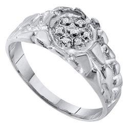 925 Sterling Silver White 0.04CTW DIAMOND FASHION MENS