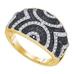 10K Yellow-gold 0.50CTW BLACK DIAMOND FASHION RING