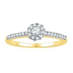 10K Yellow-gold 0.33CTW-Diamond BRIDAL RING